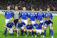 Fotball<br /> Foto: imago/Digitalsport<br /> NORWAY ONLY<br /> <br /> 15.10.2008 <br /> <br /> Lagbilde Finland<br /> <br /> Mannschaftsfoto Finnland, hi. v. li.: Hannu Tihinen, Torwart Jussi Jääskeläinen, Mikael Forssell, Joonas Kolkka, Roman Eremenko, Markus Heikkinen, vorn: Sami Hyypiä, Petri Pasanen, Daniel Sjölund, Veli Lampi und Mika Väyrynen
