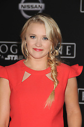 December 10, 2016 - Los Angeles, California, United States - December 10th 2016 - Los Angeles California USA - Actress EMILY OSMENT  at the World Premiere for ''Rogue One Star Wars'' held at the Pantages Theater, Hollywood, Los Angeles  CA (Credit Image: © Paul Fenton via ZUMA Wire)