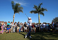 Feb 27, 2016; Palm Beach Gardens, FL, USA; Luke List plays from the rough on the 12th hole during the third round of the Honda Classic. at PGA National (Champion). Mandatory Credit: Peter Casey-USA TODAY Sports