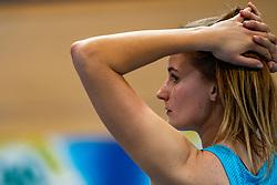 Lianne van Krieken in action on the long jump during AA Drink Dutch Athletics Championship Indoor on 20 February 2021 in Apeldoorn.