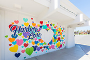 Painted Hearts Harbor Love Photo Wall