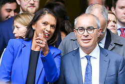 © Licensed to London News Pictures. 24/09/2019. London, UK. Businesswoman and political activist Gina Miller and Lord Pannick QC representing Gina Miller outside Supreme Court in London after the court ruled that the Prime Minister Boris Johnson's decision to prorogue Parliament is unlawful. Last week the court heard an appeal in the multiple legal challenges against the Prime Minister Boris Johnson's decision to prorogue Parliament ahead of a Queen's speech on 14 October.  Photo credit: Dinendra Haria/LNP