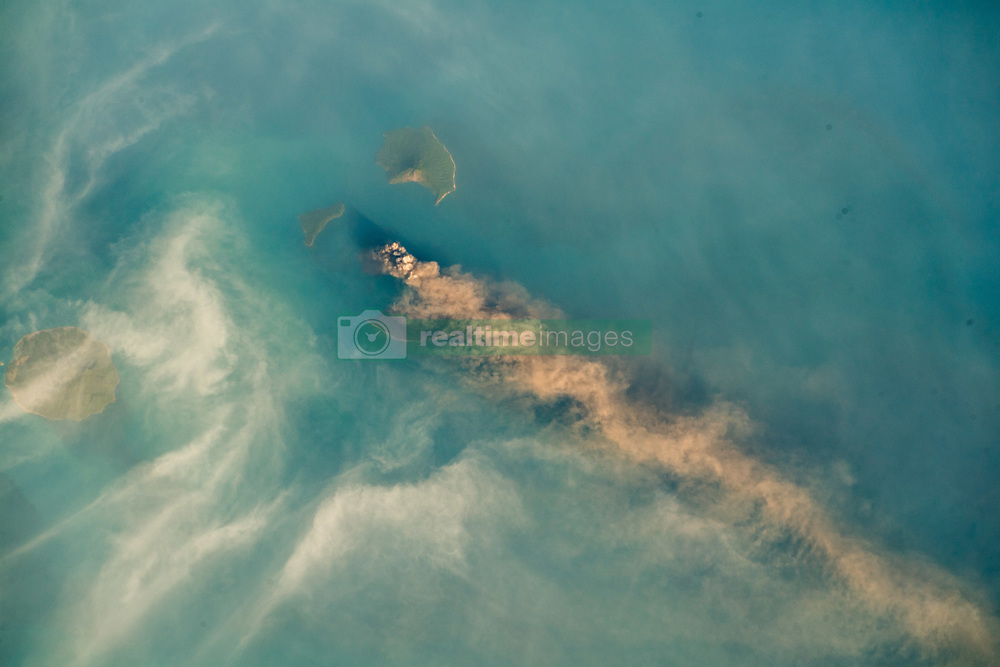 September 24, 2018 - Sunda Strait - Krakatoa, or Krakatau is a volcanic island situated in the Sunda Strait between the islands of Java and Sumatra in the Indonesian province of Lampung. The name is also used for the surrounding island group comprising the remnants of a much larger island of three volcanic peaks which was obliterated in a cataclysmic 1883 eruption. (Credit Image: ? ESA/ZUMA Wire/ZUMAPRESS.com)