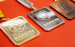 Medals at Day Two of Karate 1 World Cup - Thermana Slovenia Lasko 2013 tournament, on March 17, 2013 in Arena Tri Lilije, Lasko, Slovenia. (Photo by Vid Ponikvar / Sportida.com)