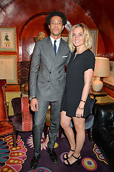 CHARLIE CASELY-HAYFORD and SOPHIE ASHBY at an intimate performance by All Saints held at Annabel's, 44 Berkeley Square, London on 4th May 2016.