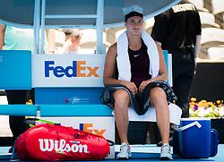 January 8, 2019 - Sidney, AUSTRALIA - Aryna Sabalenka of Belarus in action during her first round match at the 2019 Sydney International WTA Premier tennis tournament (Credit Image: © AFP7 via ZUMA Wire)