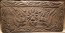 July 3, 2017 - Beijing, Beijing, China - Beijing, CHINA-July 3 2017: (EDITORIAL USE ONLY. CHINA OUT)...Antique of brick carving of Wei and Jin Dynasties can be seen at National Museum of China in Beijing. (Credit Image: © SIPA Asia via ZUMA Wire)