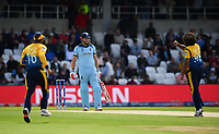 Cricket - 2019 ICC Cricket World Cup - Group Stage: England vs. Sri Lanka<br /> <br /> England's Jonny Bairstow dismissed first ball lbw by Sri Lanka's Lasith Malinga, at Headingley, Leeds<br /> <br /> COLORSPORT/ASHLEY WESTERN
