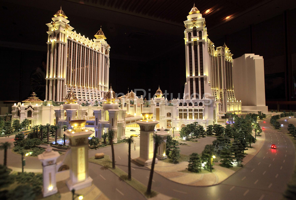 A model of the soon to be completed Galaxy Macau sits at the company's office in Macau, China on 27 January 2011. A relative newcomer to the rapidly expanding Macau gambling scene, the Galaxy hopes its new casino will hold up its own against the likes of the Venetian, Wynn, MGM, and the Lisboa.