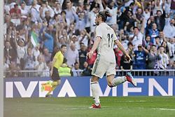 March 16, 2019 - Madrid, Madrid, Spain - Real Madrid's Gareth Bale seen celebrating a goal during La Liga match between Real Madrid and Real Club Celta de Vigo at Santiago Bernabeu Stadium in Madrid, Spain. (Credit Image: © Legan P. Mace/SOPA Images via ZUMA Wire)