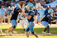 Dorman Cavaliers quarterback Hayden Lee (13) passes against the Dutch Fork Silver Foxes in the Class AAAAA State Championship Game at Williams-Brice Stadium in Columbia, SC. Dutch Fork wins their 4th straight state championship at Williams Brice Stadium. Photos ©JeffBlakePhoto.com