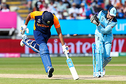 Rohit Sharma of India makes his ground to bring up 100 - Mandatory by-line: Robbie Stephenson/JMP - 30/06/2019 - CRICKET - Edgbaston - Birmingham, England - England v India - ICC Cricket World Cup 2019 - Group Stage