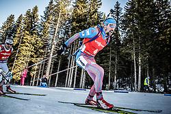 Alexey Slepov (RUS) competes during Men 12,5 km Pursuit at day 3 of IBU Biathlon World Cup 2015/16 Pokljuka, on December 19, 2015 in Rudno polje, Pokljuka, Slovenia. Photo by Vid Ponikvar / Sportida