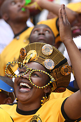 Oct 31, 2009 - Soweto, South Africa - Local South African soccer team Kaiser Chiefs supporters watch and support there side taking on the Orlando Pirates, at the Orlando Stadium. Orlando Stadium, one of the 2010 World Cup venues is also the home of both of the local soccer sides. (Credit Image: © Kevin Sutherland/ZUMA Press)