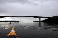 Padle havkajakk, paddle sea kayak, Aursundet