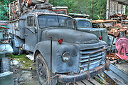 Old truck cemetery - old trucks in a junk yard