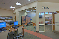Architectural Interior Design Photographer Jeffrey Sauers of Commercial Photographics of Maryland Image of Harford County Public Library Whitford Branch interior for Mullan Contracting Company and Lawrence Howard and Associates