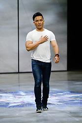 Prabal Gurung show, Runway, Fall Winter 2018, New York Fashion Week Model on the catwalk- Ashely Graham - Gigi Hadid and Bella Hadid-Romee Strijd. 11 Feb 2018 Pictured: Prabal-Gurung. Photo credit: Newspictures/ MEGA TheMegaAgency.com +1 888 505 6342