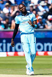 Jofra Archer of England cuts a frustrated figure - Mandatory by-line: Robbie Stephenson/JMP - 03/07/2019 - CRICKET - Emirates Riverside - Chester-le-Street, England - England v New Zealand - ICC Cricket World Cup 2019 - Group Stage