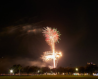 St. Petersburg First Night Fireworks (Early Show). Image taken with a Leica CL camera and 18 mm lens (ISO 100, 18 mm, f/8, 8 sec).