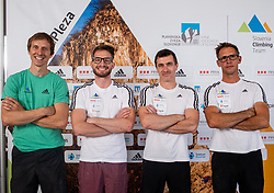 Coaches of Slovenian National Climbing team: Anze Stremfelj, Domen Svab, Gorazd Hren and Luka Fonda before new season, on June 30, 2020 in Koper / Capodistria, Slovenia. Photo by Vid Ponikvar / Sportida