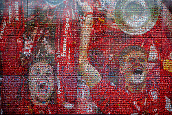 LIVERPOOL, ENGLAND - Thursday, August 5, 2021: The Champions Wall at Anfield. A mosaic of photographs of Liverpool supporters. (Pic by David Rawcliffe/Propaganda)