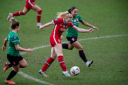 BIRKENHEAD, ENGLAND - Sunday, March 14, 2021: Liverpool's Ceri Holland shoots during the FA Women's Championship game between Liverpool FC Women and Coventry United Ladies FC at Prenton Park. Liverpool won 5-0. (Pic by David Rawcliffe/Propaganda)