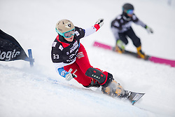 Jessica Keiser (SUI) during Final Run at Parallel Giant Slalom at FIS Snowboard World Cup Rogla 2019, on January 19, 2019 at Course Jasa, Rogla, Slovenia. Photo byJurij Vodusek / Sportida