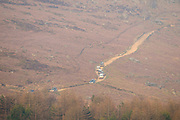 Controversial 4x4 traffic on Stanage causeway, Peak District
