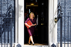 © Licensed to London News Pictures. 18/07/2017. London, UK. Education Secretary JUSTINE GREENING leaves after a cabinet meeting in Downing Street, London on Tuesday, 18 July 2017. Photo credit: Tolga Akmen/LNP
