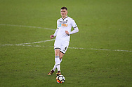 Alfie Mawson of Swansea city in action.  The Emirates FA Cup, 3rd round replay match, Swansea city v Wolverhampton Wanderers at the Liberty Stadium in Swansea, South Wales on Wednesday 17th January 2018.<br /> pic by  Andrew Orchard, Andrew Orchard sports photography.