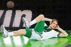 Jaka Blazic of Union Olimpija during basketball match between KK Union Olimpija and Unics Kazan (RUS) of 10th Round in Group D of Regular season of Euroleague 2011/2012 on December 21, 2011, in Arena Stozice, Ljubljana, Slovenia. (Photo by Vid Ponikvar / Sportida)