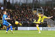 Burton Albion midfielder Scott Fraser (7) shoots at goal during the EFL Sky Bet League 1 match between Burton Albion and Gillingham at the Pirelli Stadium, Burton upon Trent, England on 12 January 2019.