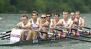 2001 World Rowing Championships, Lucerne, SWITZERLAND, Lake Rotsee, GBR M8+. © Peter Spurrier/Intersport-Images Tel +44 7973 819 551 email images@intersport-images.com. 20010819 FISA World Rowing Championships, Lucerne, SWITZERLAND