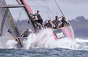Alinghi race Team New Zealand to a five nil victory in the last race of the 31st America's Cup. 2/3/2003 (© Chris Cameron 2003)