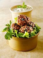 Kofta with salad & yoghurt