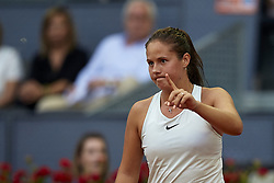 May 9, 2018 - Madrid, Madrid, Spain - Daria Kasatkina of Russia reacts in her match against Garbine Muguruza of Spain during day five of the Mutua Madrid Open tennis tournament at the Caja Magica on May 9, 2018 in Madrid, Spain  (Credit Image: © David Aliaga/NurPhoto via ZUMA Press)