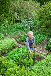 Carol Klein in the vegetable garden at Glebe Cottage