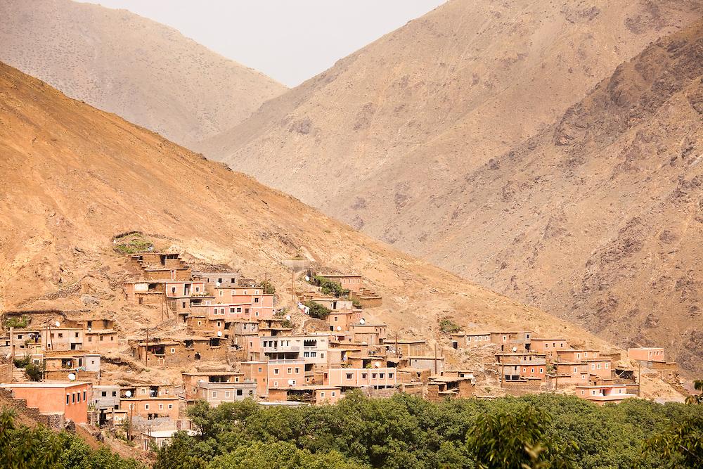 Mountain village of Imlil in the Atlas Mountains, Morocco.