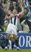 Sportsbeat Images<br />West Bromwich Albion v Cardiff<br />Saturday 14th February 2004<br />WBA V CARDIFF CITY<br />WBA'S NEIL CLEMENT CELEBRATES OPENING GOAL