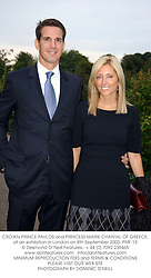 CROWN PRINCE PAVLOS and PRINCESS MARIE CHANTAL OF GREECE, at an exhibition in London on 8th September 2003.PMF 13