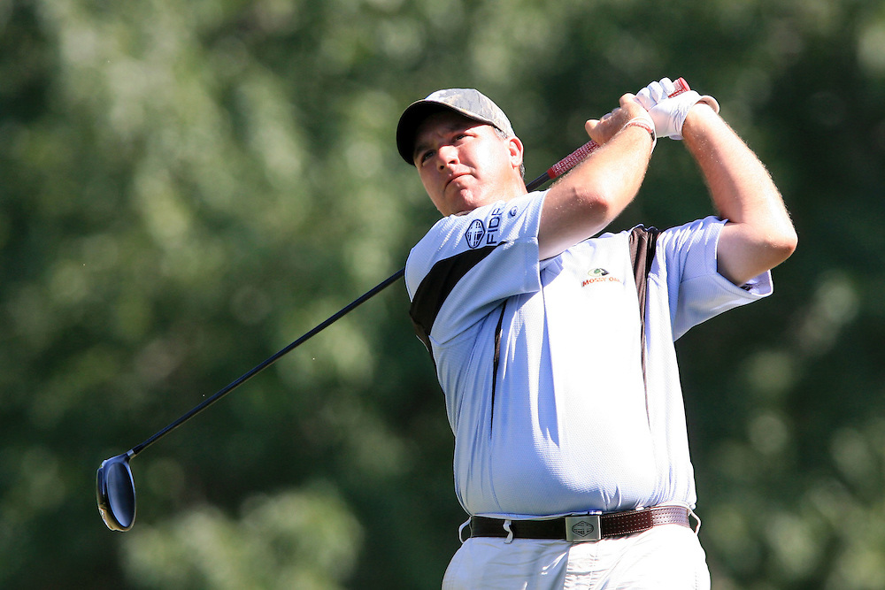 12 August 2007: Boo Weekley drives off the 13th tee during the final round of the 89th PGA Championship at Southern Hills Country Club in Tulsa, OK.