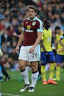 James Tarkowski of Burnley looks on. Premier League match, Burnley v Everton at Turf Moor in Burnley , Lancs on Saturday 22nd October 2016.<br /> pic by Chris Stading, Andrew Orchard sports photography.