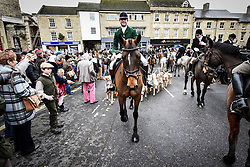 © Licensed to London News Pictures. 26/12/2014. Charles Frmapton - Senior Master leads the Heythrop Hunt on Boxing Day into Chipping Norton Oxfordshire. Photo credit : MARK HEMSWORTH/LNP