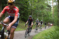Alexis Ryan (USA) descends on the final gravel section of the Crescent Vargarda - a 152 km road race, starting and finishing in Vargarda on August 13, 2017, in Vastra Gotaland, Sweden. (Photo by Balint Hamvas/Velofocus.com)