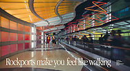 Rockport Shoes make you feel like walking,  O'Hare Airport, Chicago, Two woman walking
