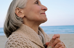 Dec. 14, 2012 - Senior woman looking spiritual (Credit Image: © Image Source/ZUMAPRESS.com)