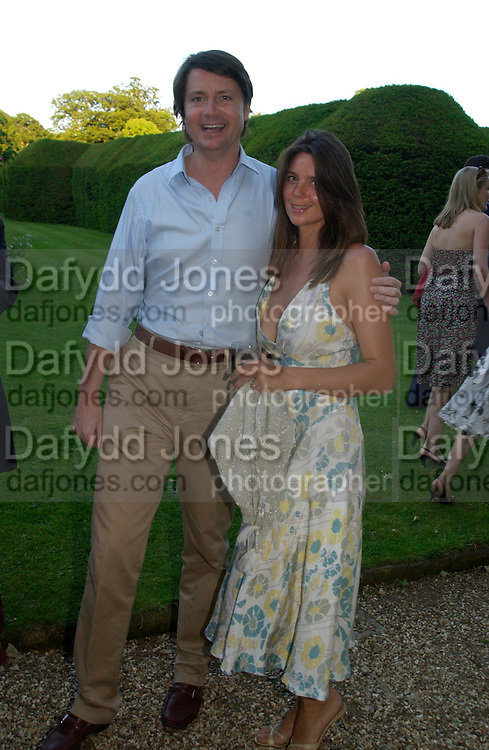 Mark and Katie Cecil. Mollie Dent-Brocklehurst and Vanity Fair host  the opening of 'Vertigo'  a mixed art exhibition at Sudeley Castle. Winchombe, Gloucestershire. 18 June 2005. ONE TIME USE ONLY - DO NOT ARCHIVE  © Copyright Photograph by Dafydd Jones 66 Stockwell Park Rd. London SW9 0DA Tel 020 7733 0108 www.dafjones.com