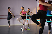 Dancers take class with Bay Pointe Ballet artistic director Bruce Steivel in Foster City, California, on May 26, 2013. (Stan Olszewski/SOSKIphoto)
