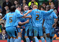 Photo: Ashley Pickering.<br />Norwich City v Coventry City. Coca Cola Championship. 24/02/2007.<br />Coventry celebrate Jay Tabb's opening goal (0-1)